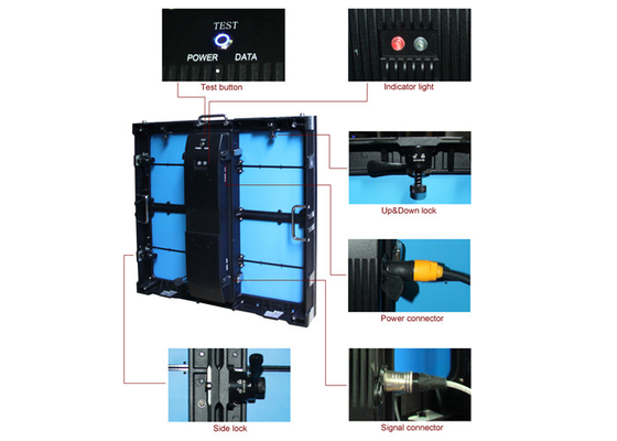 China P8 Indoor Rental LED Screen For Music Concerts Easy Installation supplier
