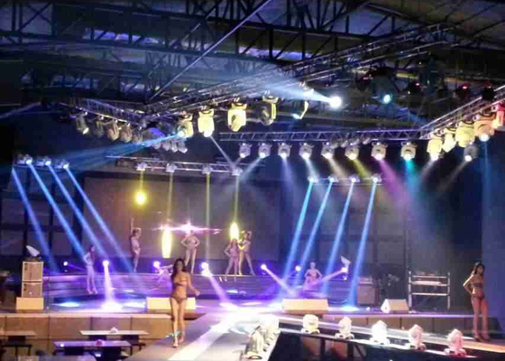 China High Resolution SMD3528 LED Stage Screen Rental With Light Weight Cabinet supplier