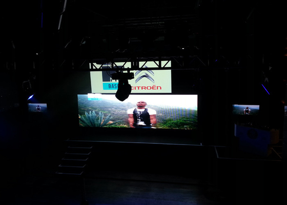 China Great Image Indoor Rental LED Screen 4mm With High Brightness Chip supplier